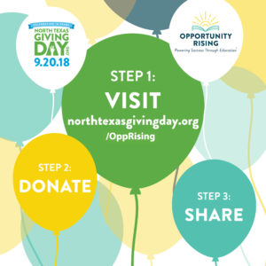 NORTH TEXAS GIVING DAY OPPORTUNITY RISING